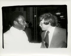 Andy Warhol, Photograph of Pelé and Richard Weisman, 1977