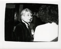 Andy Warhol, Photograph of Quentin Crisp, circa 1986