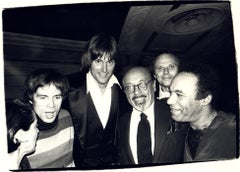 Andy Warhol Photograph of Rudolf Nureyev, Bruce Jenner, and Ahmet Ertegun, 1979