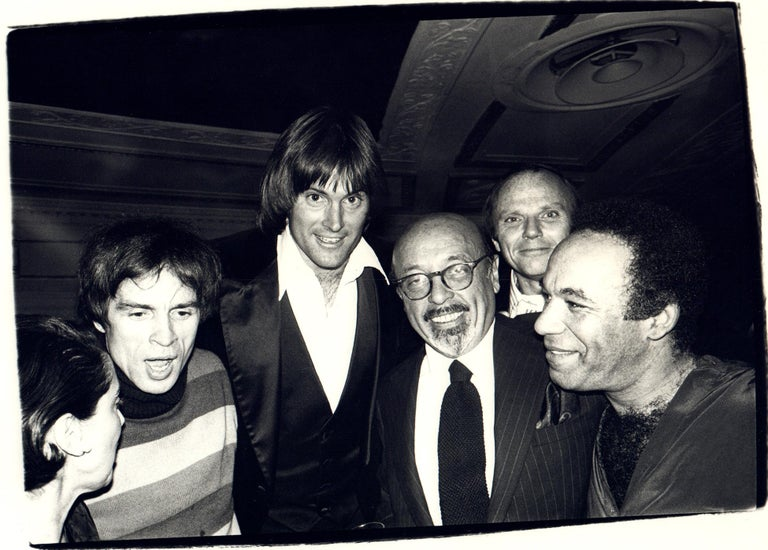 Andy Warhol Photograph of Rudolf Nureyev, Bruce Jenner, and Ahmet Ertegun, 1979 - Black Black and White Photograph by Andy Warhol