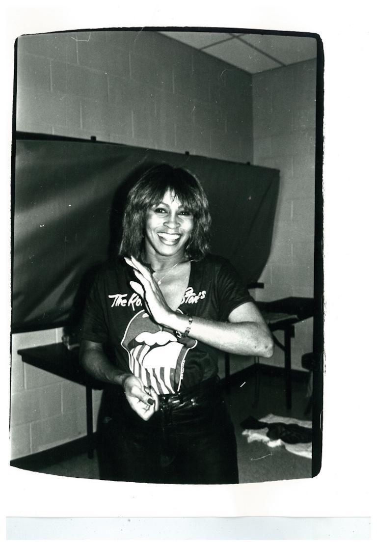 Andy Warhol, Photograph of Tina Turner, 1981 - Black Black and White Photograph by Andy Warhol