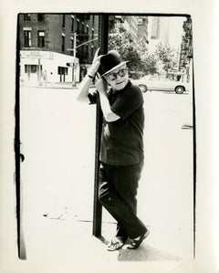 Andy Warhol, Photograph of Truman Capote on a Street Lamp circa 1978