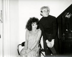 Andy Warhol Photograph, Self-Portrait with Joan Collins, 1985