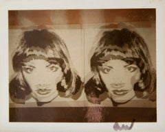 Andy Warhol, Polaroid Photograph Detail of Brunette Diptych Screen Print, 1983