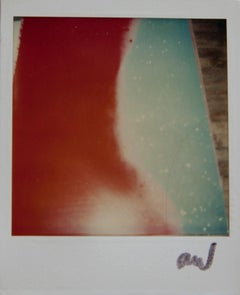 Andy Warhol, Polaroid of a Painting Detail (Abstract Red and Blue), 1985