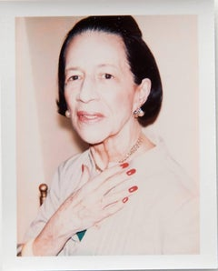 Andy Warhol, Polaroid Photograph of Diana Vreeland, 1973