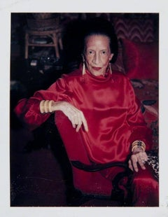 Andy Warhol, Polaroid Photograph of Diana Vreeland, 1983