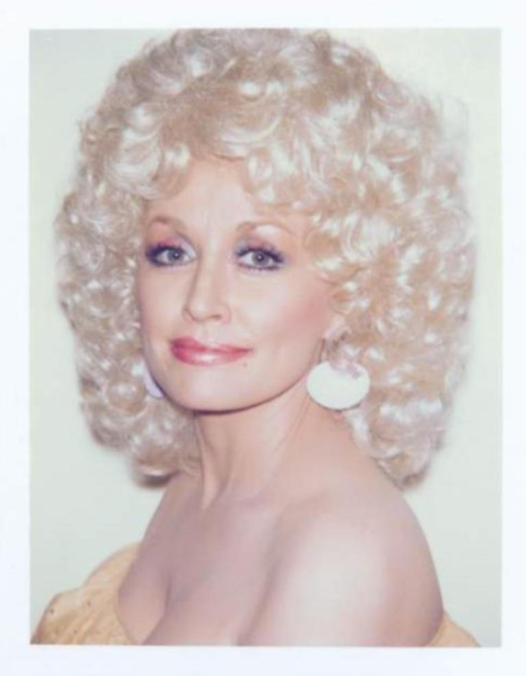 Andy Warhol, Polaroid Photograph of Dolly Parton, 1985 - Gray Portrait Photograph by Andy Warhol