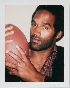 Andy Warhol, Polaroid Photograph of OJ Simpson with a Football, 1977