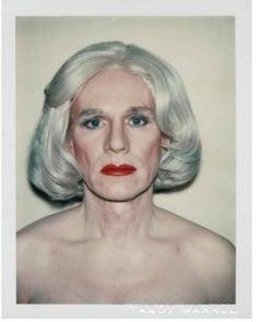 Andy Warhol Polaroid, Self- Portrait in Drag (Andy Warhol in Drag), 1981