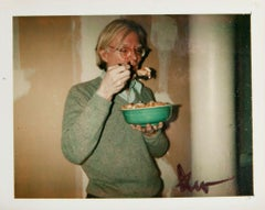 Andy Warhol, Self-Portrait Polaroid Photograph, Andy Eating, 1970