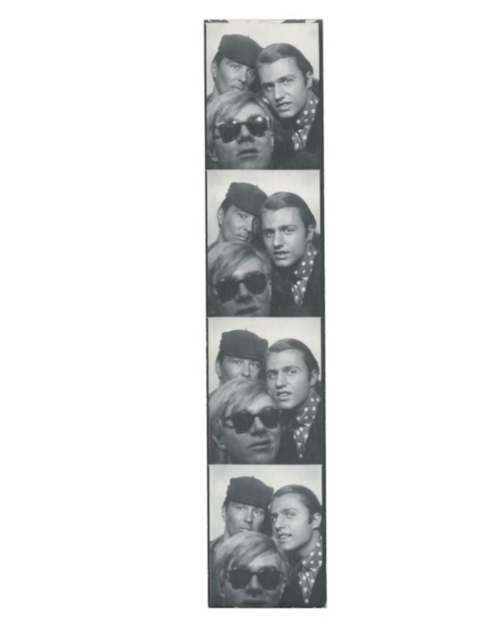 Andy Warhol with Gerard Malanga and Philip Fagan