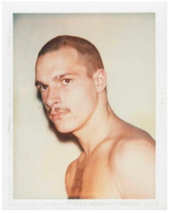 "Andy Warhol ""Young Moustache"" Polaroid, 1977"