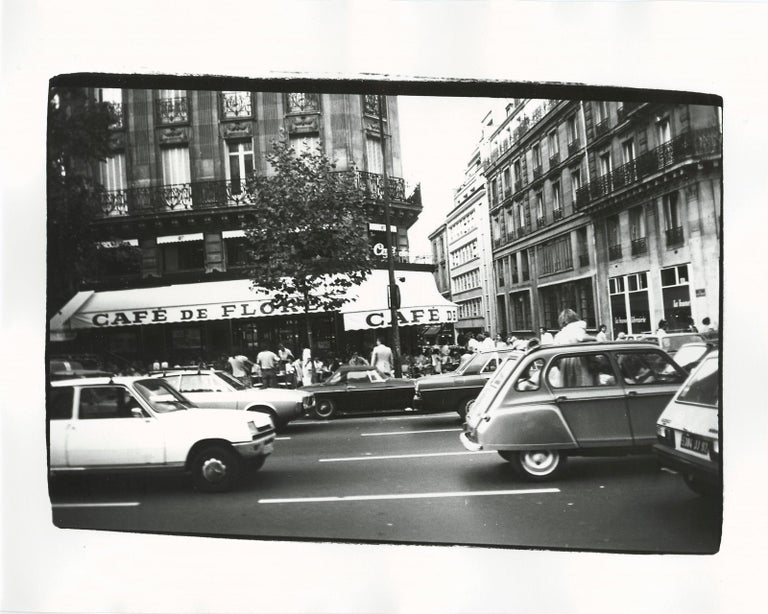 Andy Warhol Black and White Photograph - Cafe de Flore