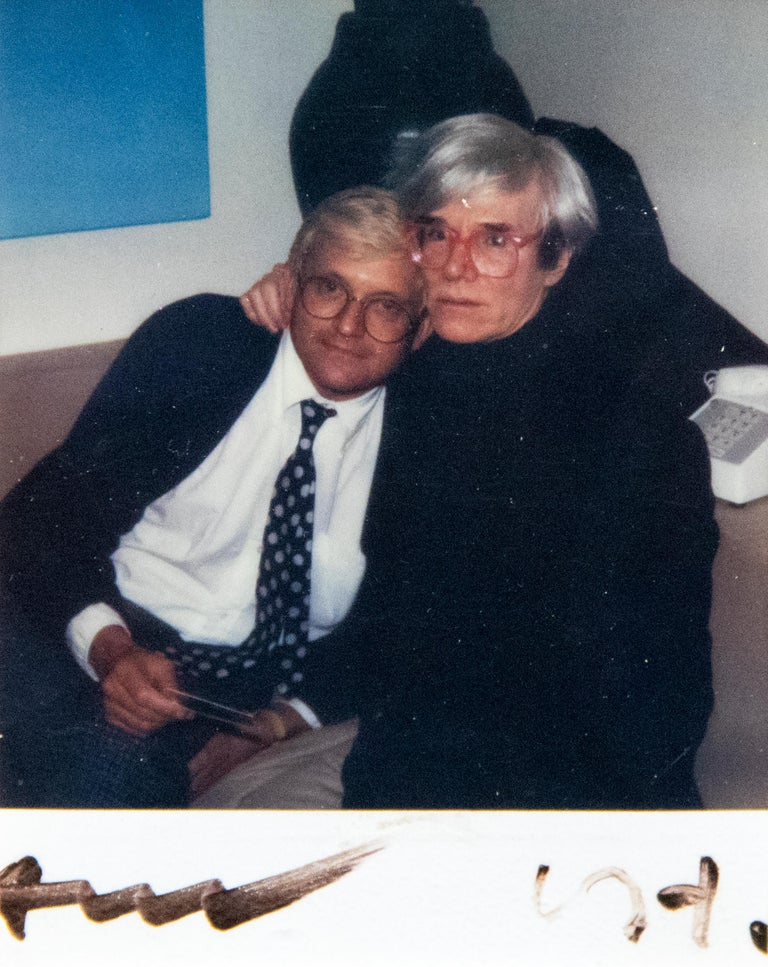 David Hockney and Andy Warhol - Photograph by Andy Warhol