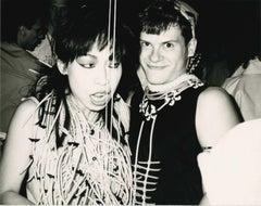 David Spada and partygoer