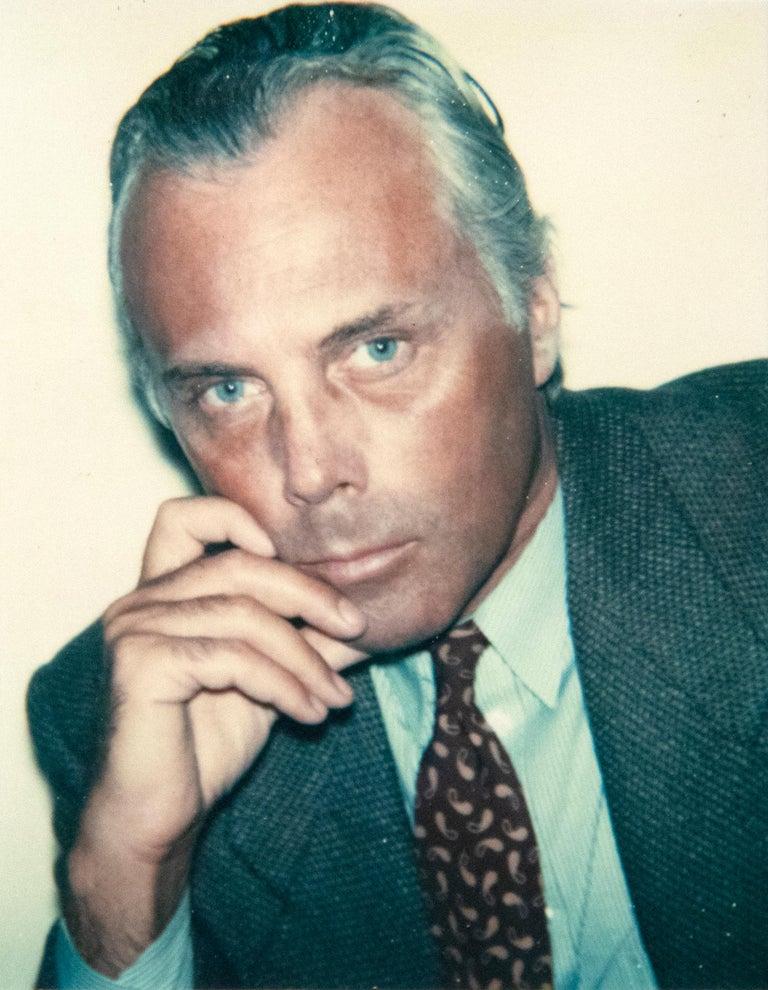 Andy Warhol Portrait Photograph - Giorgio Armani