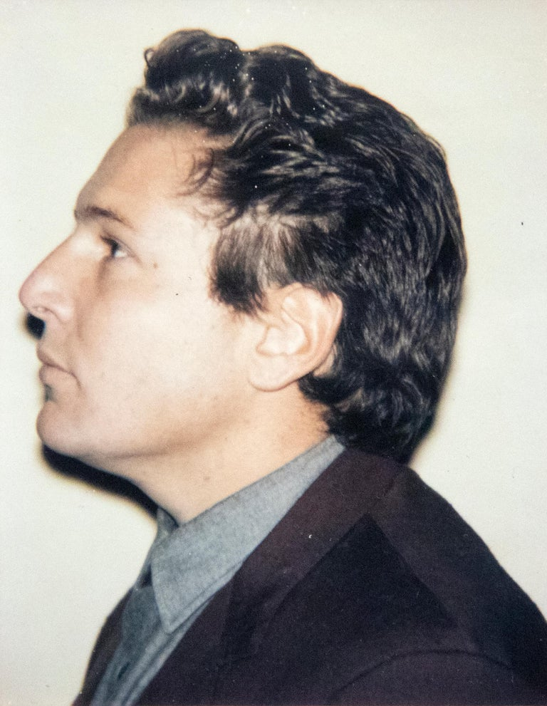 Julian Schnabel 4 Polaroids - Beige Color Photograph by Andy Warhol