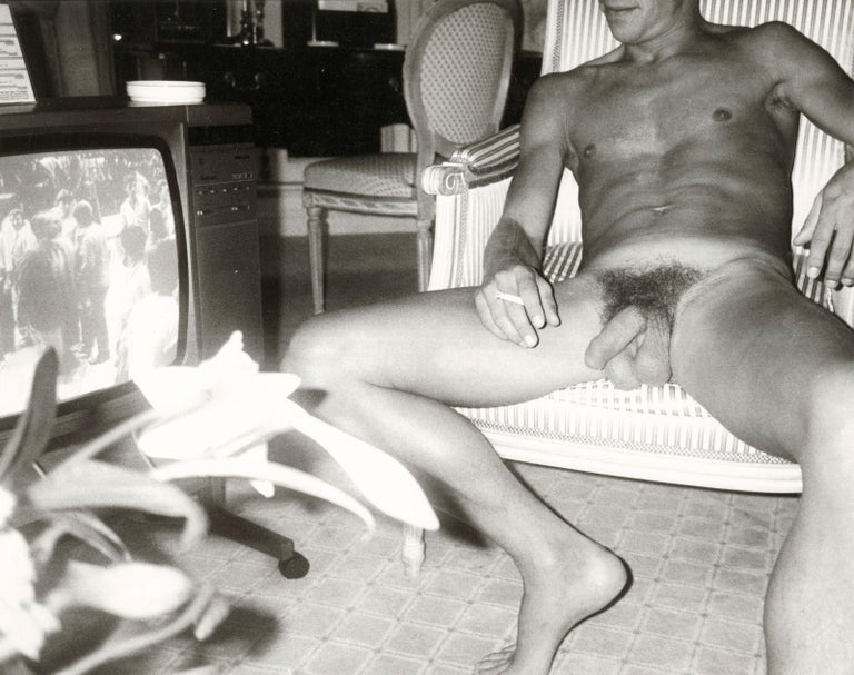 Andy Warhol Black and White Photograph - Male Nude Model