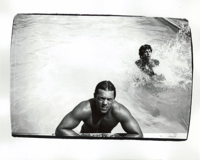 Andy Warhol Black and White Photograph - Men in Pool