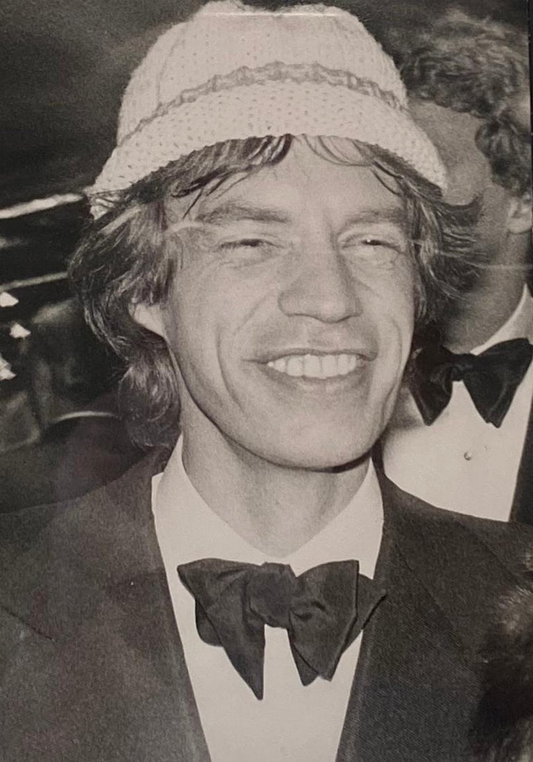 Andy Warhol Black and White Photograph - Mick Jagger in Hat