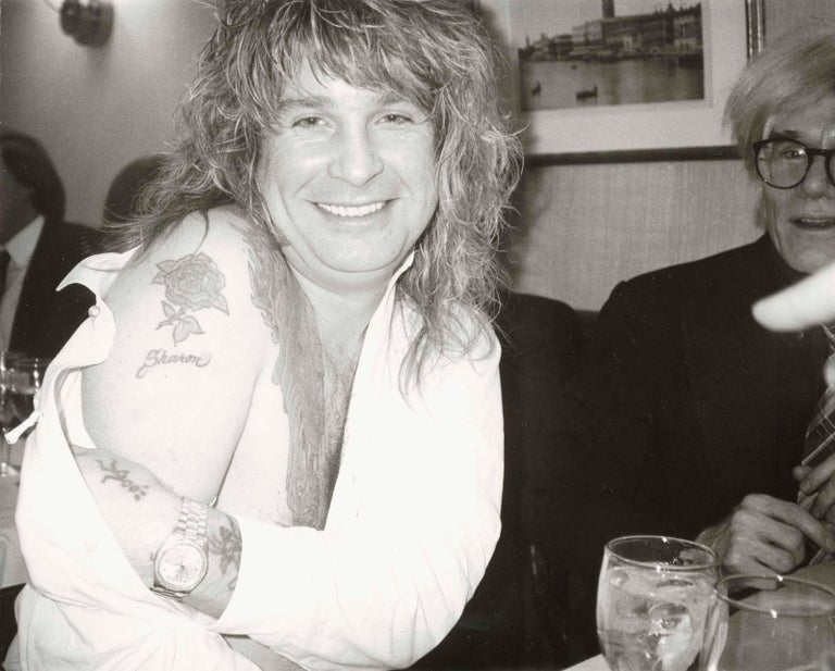 Ozzy Osbourne and Andy Warhol - Modern Photograph by Andy Warhol