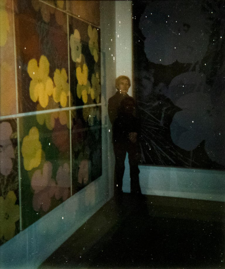 Andy Warhol Figurative Photograph - Self Portrait at 'Flowers' Exhibition