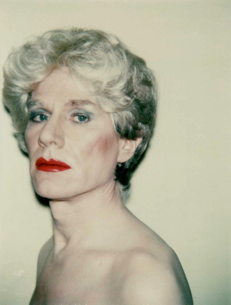 Self-Portrait in Drag - Photograph by Andy Warhol
