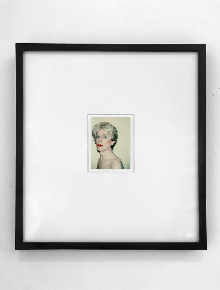 Self-Portrait in Drag - Beige Portrait Photograph by Andy Warhol