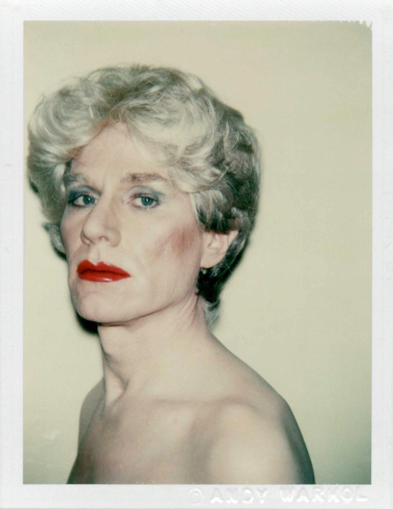 <i>Self-Portrait in Drag</i>, 1981, by Andy Warhol, offered by Laurence Miller Gallery
