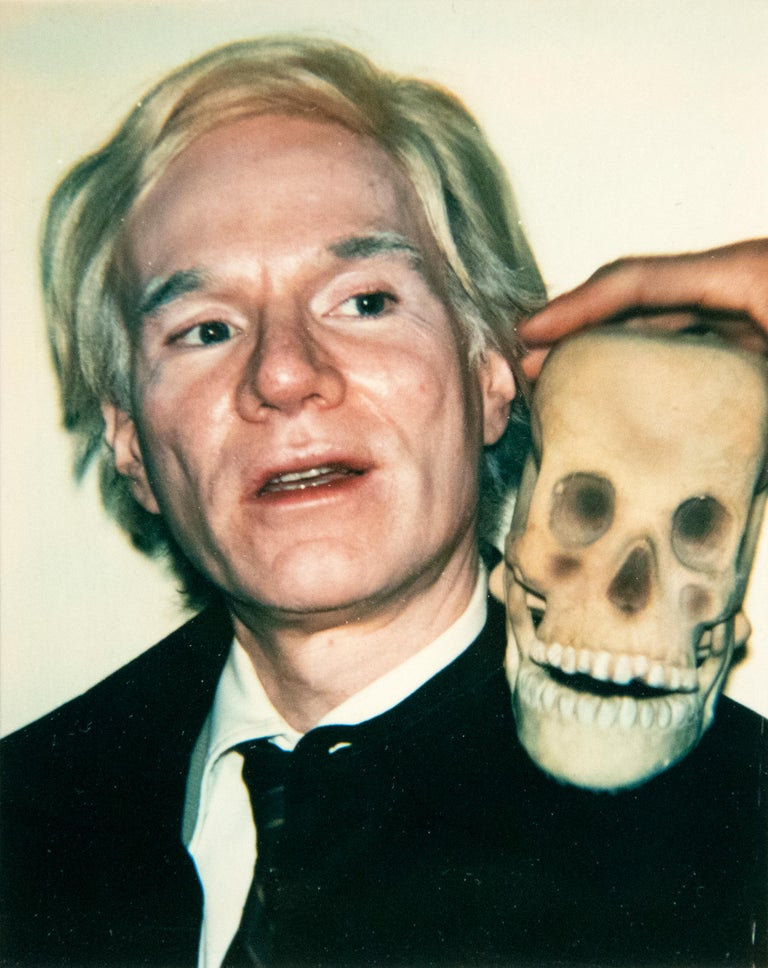 Andy Warhol Color Photograph - Self-Portrait with Skull