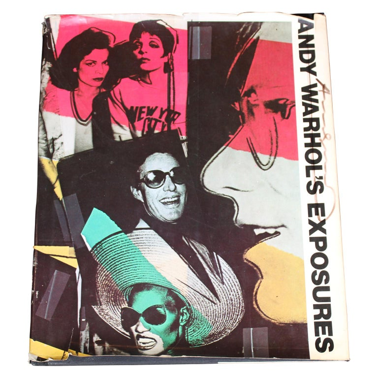 """Signed """"Andy Warhol's Exposures"""" Collection of Photographs - Black Black and White Photograph by Andy Warhol"""
