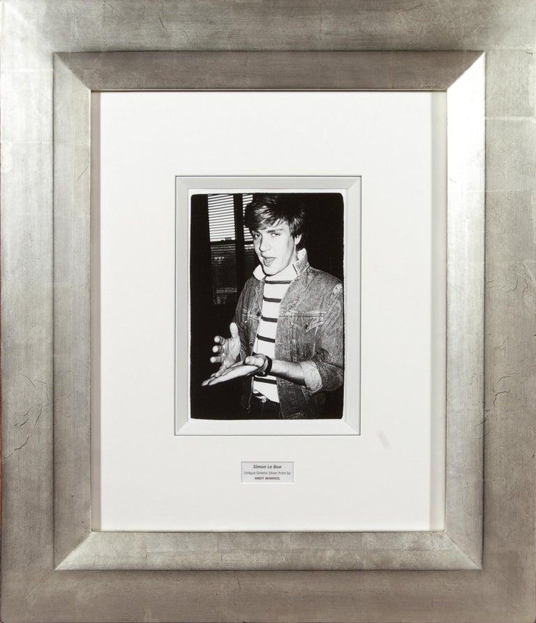 Andy Warhol Portrait Photograph - Simon Le Bon