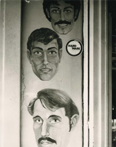 Three Painted Faces (Men with Moustaches)