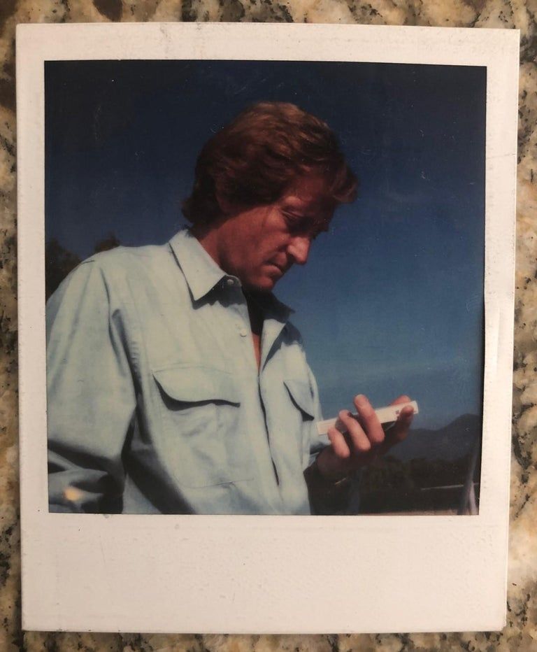 Estate authenticated Andy Warhol Polaroid photograph, circa 1970s. The photo is stamped in verso