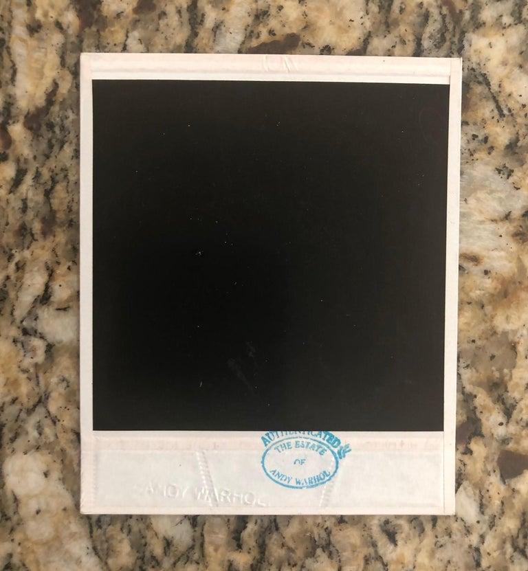 Mid-Century Modern Andy Warhol Polaroid Photograph, Estate Authenticated
