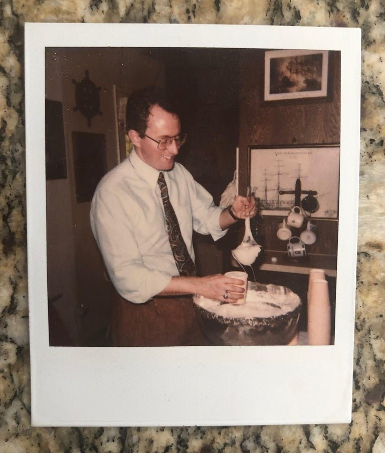 Andy Warhol polaroid photograph, circa 1970s. The photo is stamped in verso