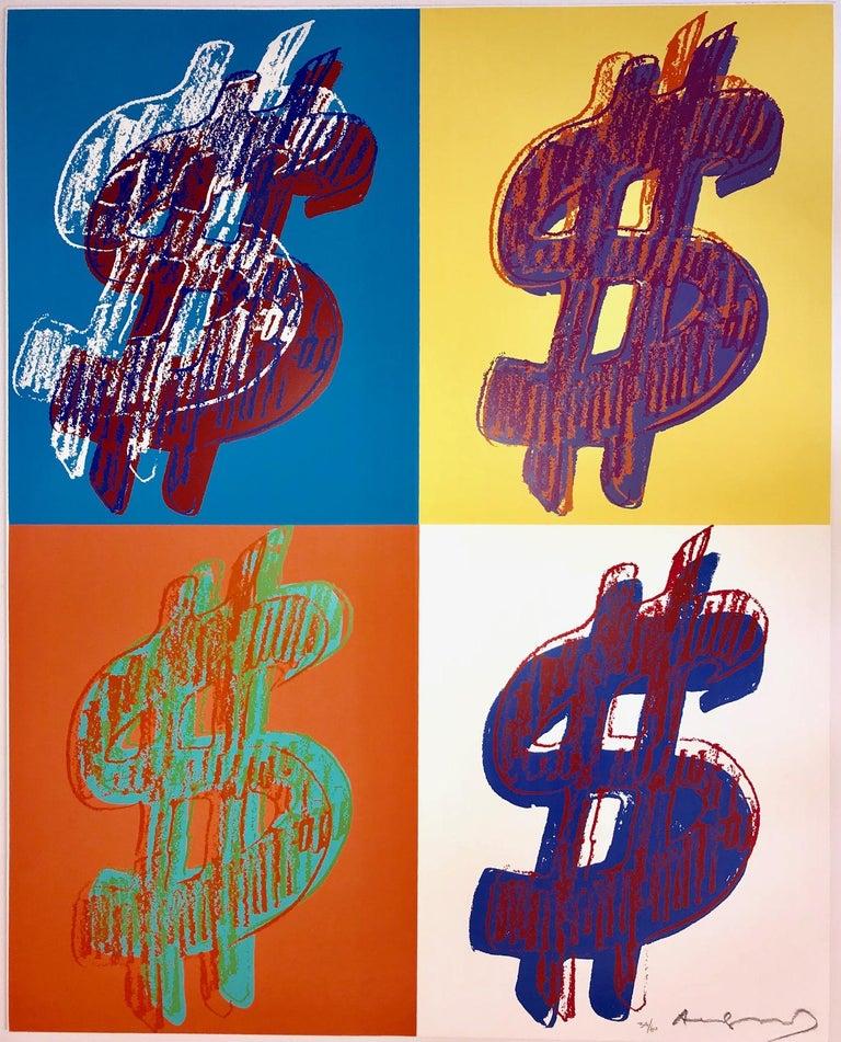 Andy Warhol Figurative Print - $ (Quadrant) F&S II.284
