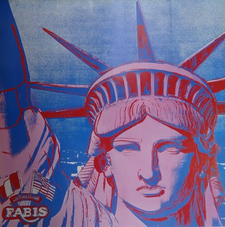 10 Statues of Liberty - Vintage Poster - 1986 - Print by (after) Andy Warhol