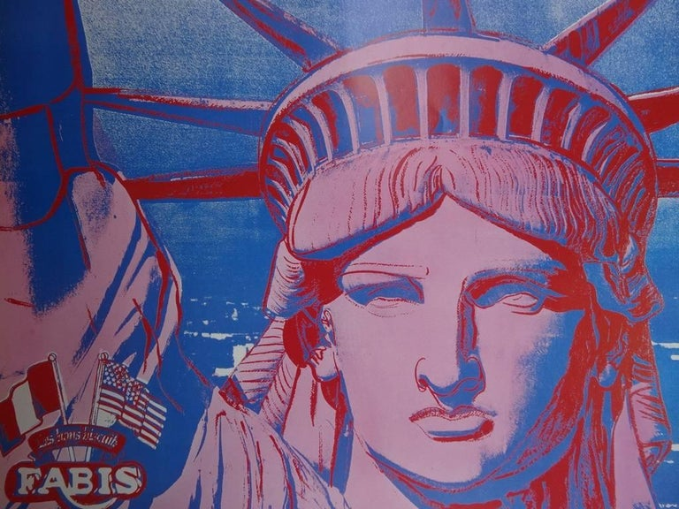 10 Statues of Liberty - Vintage Poster - 1986 - Pop Art Print by (after) Andy Warhol