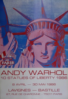 10 Statues of Liberty - Vintage Poster - 1986
