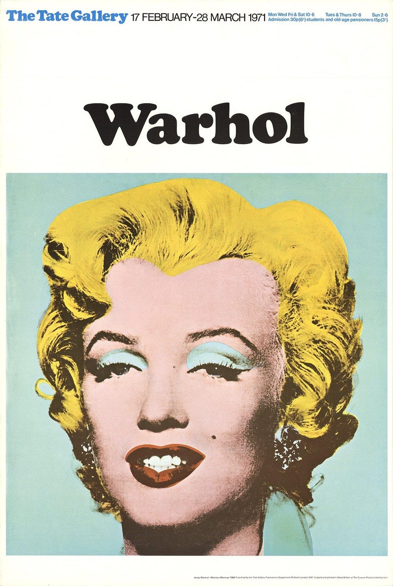 1971 After Andy Warhol 'Marilyn' Pop Art Multicolor,Yellow United Kingdom - Print by Andy Warhol