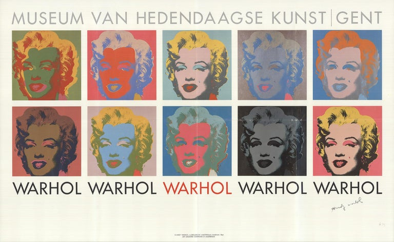 1982 Andy Warhol '10 Marilyns' Pop Art Belgium SIGNED Offset Lithograph - Print by Andy Warhol