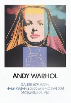 1983 Andy Warhol 'Ingrid The Nun' Pop Art Multicolor,Orange,Purple,Pink,Blue