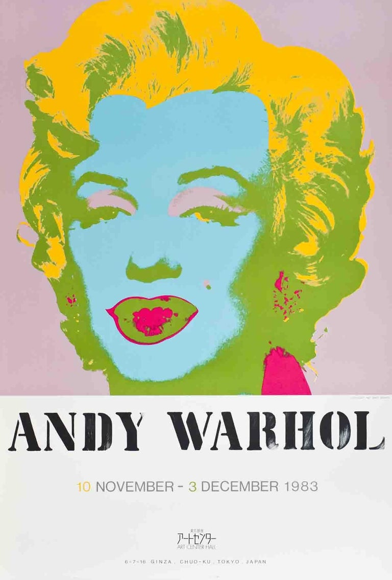 1983 Andy Warhol 'Marilyn Monroe' Pop Art Multicolor USA Serigraph - Print by Andy Warhol