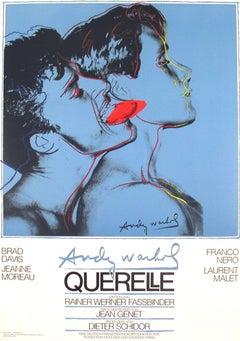 1983 After Andy Warhol 'Querelle Blue' Pop Art Blue,Red Offset Lithograph