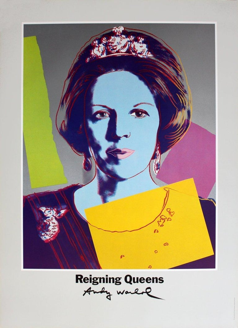 1986 After Andy Warhol 'Queen Beatrix of the Netherlands, from Reigning Queens'  - Print by Andy Warhol