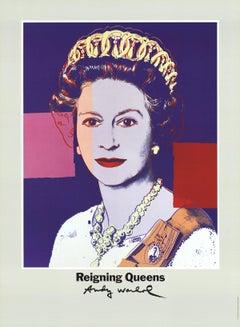 1986 Andy Warhol 'Queen Elizabeth II of England from Reigning Queens' Pop Art