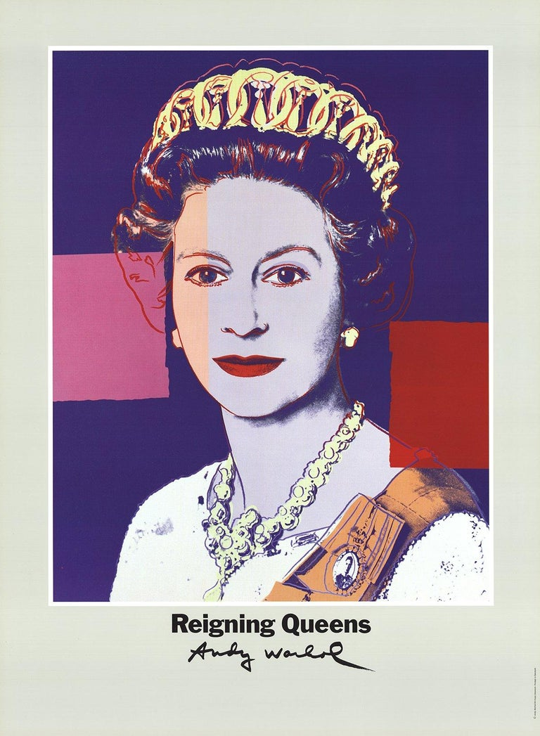 1986 After Andy Warhol 'Queen Elizabeth II of England from Reigning Queens'  - Print by Andy Warhol