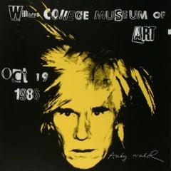 1986 Andy Warhol 'Self Portrait' Pop Art Black,Yellow USA Offset Lithograph